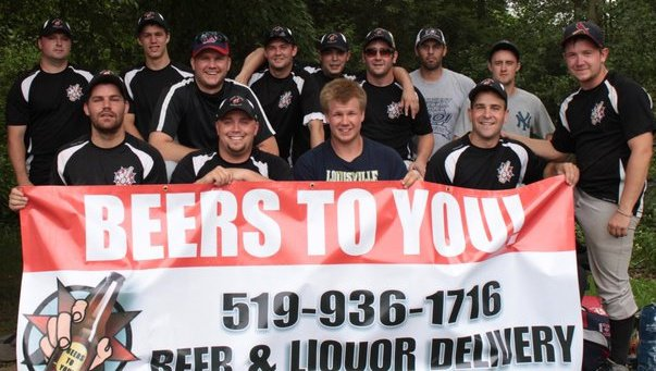 Team Beers To You! First sponsorship of an athletic men's baseball team.